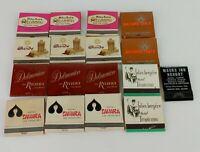 17 Vintage Las Vegas Casino Hotel Matchbook Unstruck Delmonico Sahara Sands Q8