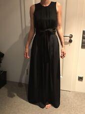 Langes Kleid Abiball Gr. S dunkelblau mit Schleife Zara