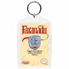 Nintendo Nes FAXANADU  Game Box Cover Keychain New #1