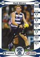 ✺Signed✺ 2014 GEELONG CATS AFL Card MARK BLICAVS
