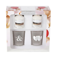 Colonial Candle Happy Anniversary Glass Votive Holder Gift Set Scented Wedding