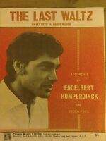 "Sheet Music ""The Last Waltz"" by Engelbert Humperdinck 1967 Donna Music"