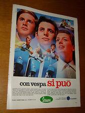 VESPA PIAGGIO CON VESPA DI PUO ' = ANNO 1968 =PUBBLICITA=ADVERTISING=WERBUNG=3