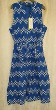 Bnwt Karen Millen Blue & White Anglais Floral Embroidered Summer Dress UK 18