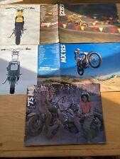 Lot of 3 Yamaha Vintage Genuine Oem Sales Brochures Rare!