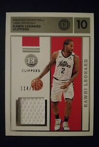 2019-20 Panini Encased Kawhi Leonard #'d 114/199 Label Materials LA Clippers