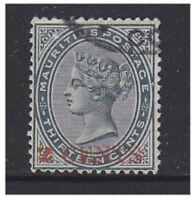 Mauritius - 1887, 2c on 13c Slate stamp - G/U - SG 117