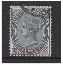 More details for mauritius - 1887, 2c on 13c slate stamp - g/u - sg 117