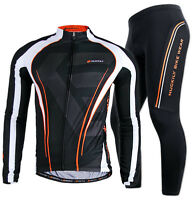 Men's Team Outdoor Bike Riding Race Jersey Pants Kits Wear Maillot Long Sleeve