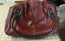 Oxblood Red Color Leather Bueno Shoulder Bag Handbag