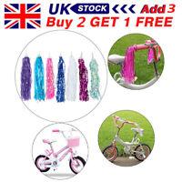 Bicycle Bike Streamers Tricycle Kids Girls Handlebar Grips Tassels 2 Pack GG rx