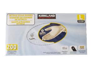 New Kirkland Signature Multi-purpose Nitrile Exam Gloves, Latex Free, 200 Gloves