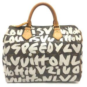 LOUIS VUITTON M92195 Monogram Graffiti Speedy30 Mini Duffle Bag Hand Bag Brown