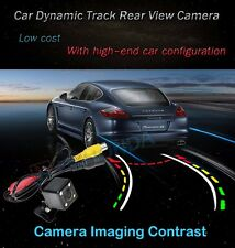 4 LED Color Car Dynamic Track Trail Trajectory Rear View Reverse CCD Camera Kit