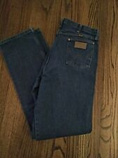 Vintage Wrangler Blue Jeans Men Size 36x36 100% Cotton Western Cowboy Excellent
