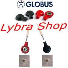 Globus 4 ADATTATORI per Elettrodi CLIP vs Elettrostimolatore con CAVI SPINOTTO