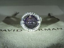DAVID YURMAN 11MM AUTHENTIC SIVER INFINITY AMETHYST RING SIZE 7  D.Y. POUCH