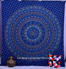Blue Mandala Hippie Tapestry Wall Hanging Throw Gypsy Boho Dorm Decor Tapestries