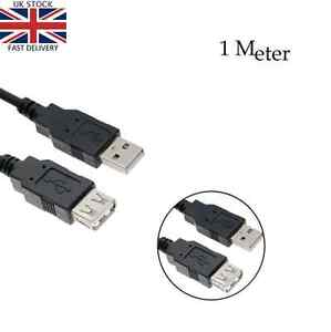 1meter USB Extension Cable Lead A Male Plug to A Female 2.0