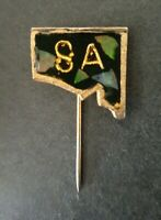 S.A. OPAL ENCRUSTED Enamel Lapel Souvenir Pin Badge