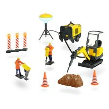 Dickie Wacker Neuson Road Construction Set Bagger Baustellenfahrzeug Spur G NEU