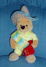 Rare Retired Disney Winnie the Pooh Traveling Series - Santa Fe Pooh - Clean EUC
