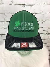 Four Seasons Screen Printing Hat Cap Green Four Leaf Clover Richardson Stretch
