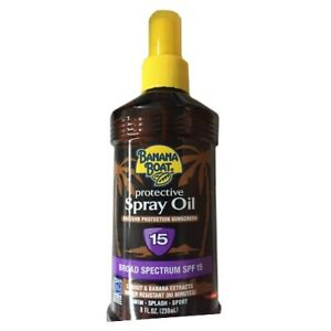 Banana Boat Protective SPF 15 Deep Tanning Oil Water Resistant 8 oz.
