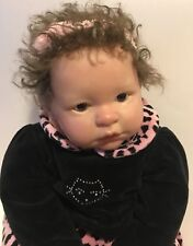 "Reborn Style Berenguer Sitting Weighted Girl Doll Pink Black Outfit 15"" Sitting"