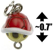 "Red Koopa Shell ~0.7"" Mini Figure - Super Mario Bros Charm (Japanese Import)"
