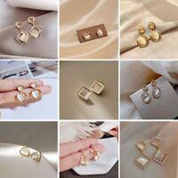 Geometric Cherry Zircon Crystal Earrings Drop Dangle Ear Stud Women Jewelry Gift