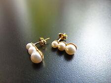 Runder echter Ohrschmuck im Ohrstecker-Stil mit Perle