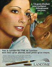 PUBLICITE ADVERTISING 104  1972  LANCOME  cosmétiques eye-liner