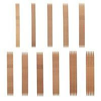 55pcs Double Pointed Carbonized Bamboo Knitting Needles Sweater Glove Knit Tools