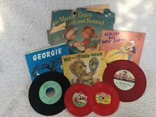 Mixed lot of vintage kids records. Vinyl. Collectible, daycare, adorable!