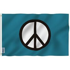 """Anley 3x5"""" Peace Symbol Flag World Peace Flags Canvas Header and Double Stitched"""
