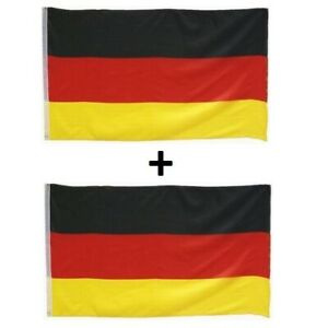 2 Fahnen Set Deutschland 60x90 cm