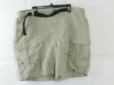 Croft & Barrow Mens Sz 42 Shorts Cargo Buckle Belt Hiking Outdoor Beige