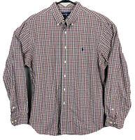 Polo Ralph Lauren Long Sleeve Oxford Shirt Plaid Mens Size XL Red Green Blue EUC