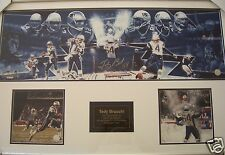 Tedy Bruschi signed autographed 2003 Patriots Snow Game photo collection framed