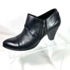 Boc By Born Women's Ankle Boots Booties Black Leather ZIP Size 8 M