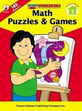 Home Workbooks: Math Puzzles and Games, Grade 3 (2002, Paperback)