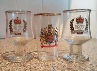 Elizabeth 2nd EII - 3 x Commemorative Mugs -    Silver Jubilee & Coronation