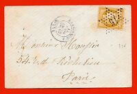 N° 36- SUR ENVELOPPE-SANS LETTRE-ÉTOILE 15-RUE BONAPARTE-27/08/1871