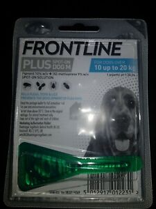 Frontline Spot On plus  Kills Fleas for Dog 10 up to 20 kg 1 Pipettes