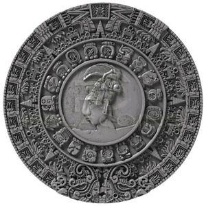 Niue Island 2018 5$ MAYAN CALENDAR - Archeology Symbolism 2oz