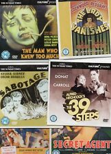 ALFRED HITCHCOCK DVD's x 5 - SABOTAGE, THE LADY VANISHES, THE 39 STEPS,