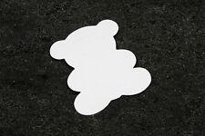 10 étiquettes ourson blanches, marque-place. Décoration de baptême