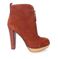 Damen Stiefel ohne Muster mit Reißverschluss