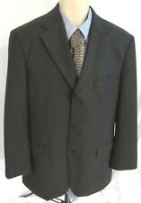 Brooks Brothers 346 Mens Stretch Sport Coat Size 40R Charcoal Gray Wool Blend